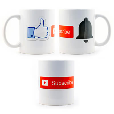 Like, Subscribe, Notify Mug