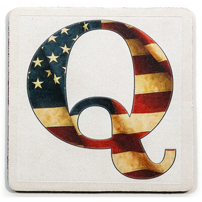 Q - USA Vintage Flag Coaster