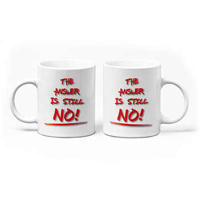The Answer Is Still NO! Mug