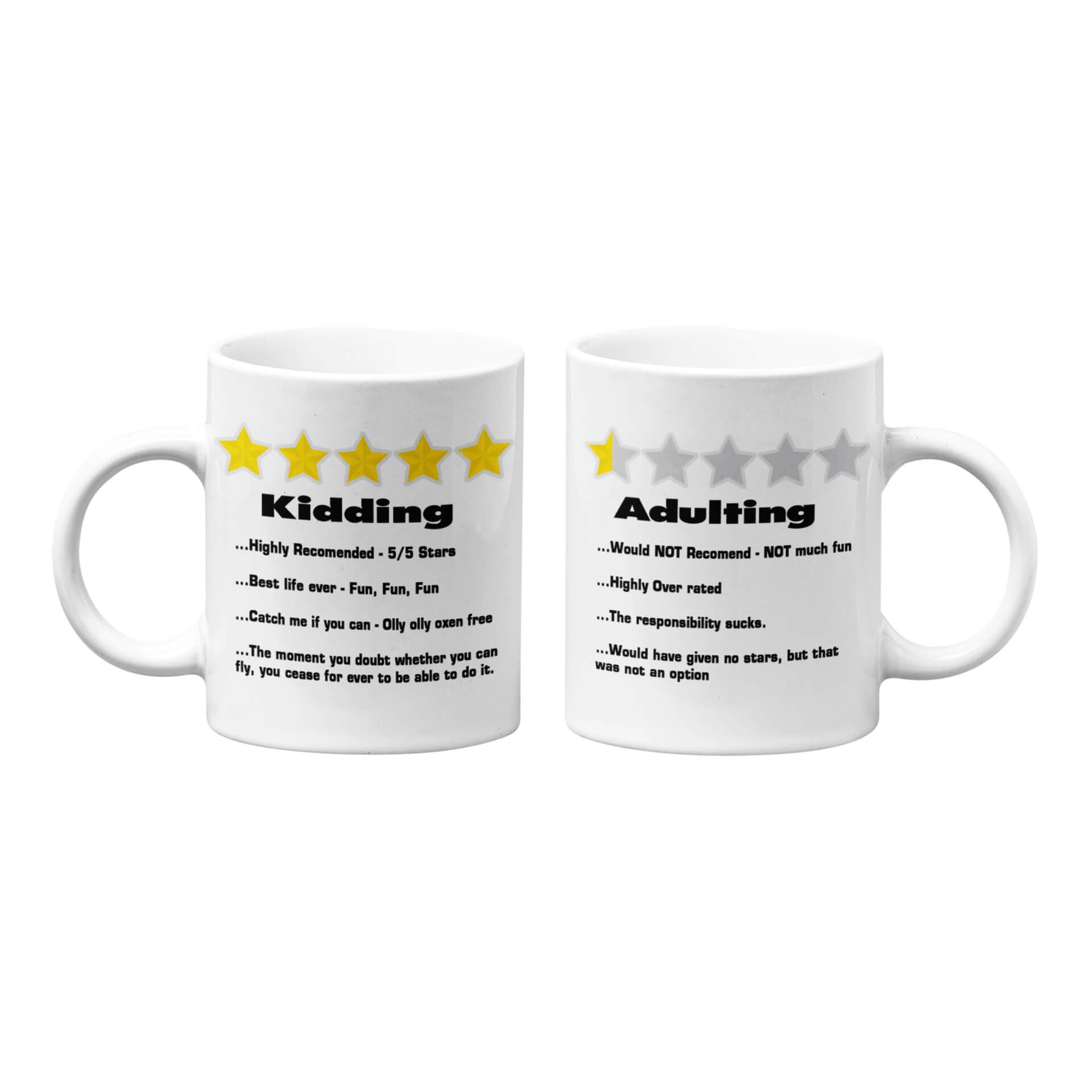 Adulting - Kidding Mug