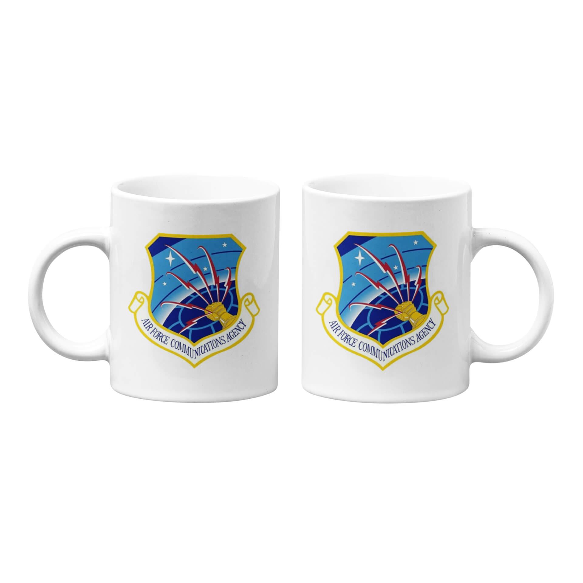 U.S. Air Force Communications Agency Emblem Mug