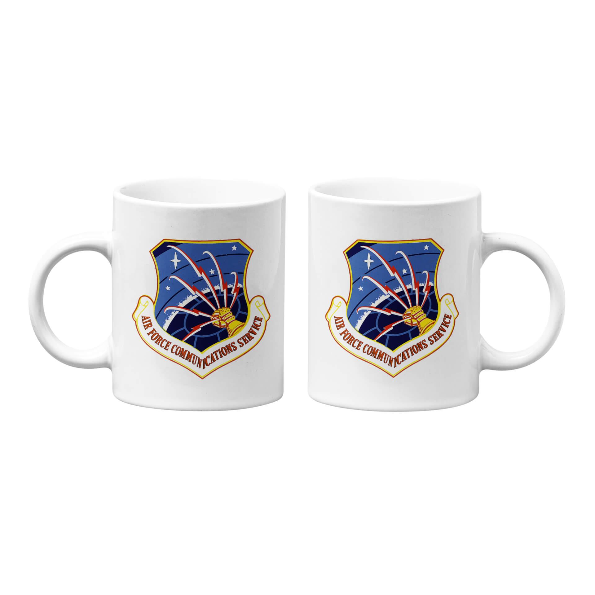 U.S. Air Force Communications Service Emblem Mug