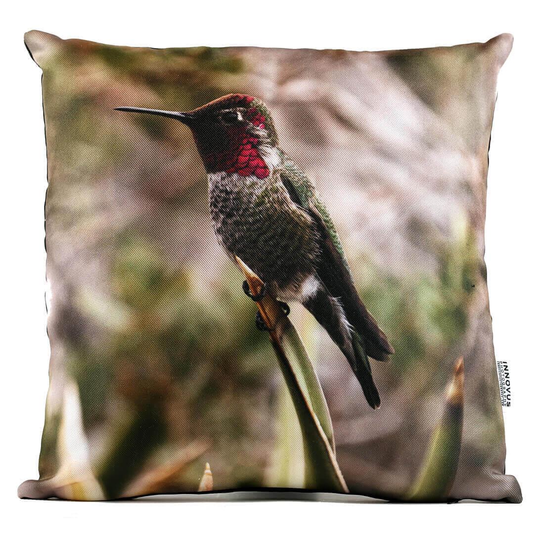 Back Yard Hummingbird 14in Throw Pillow
