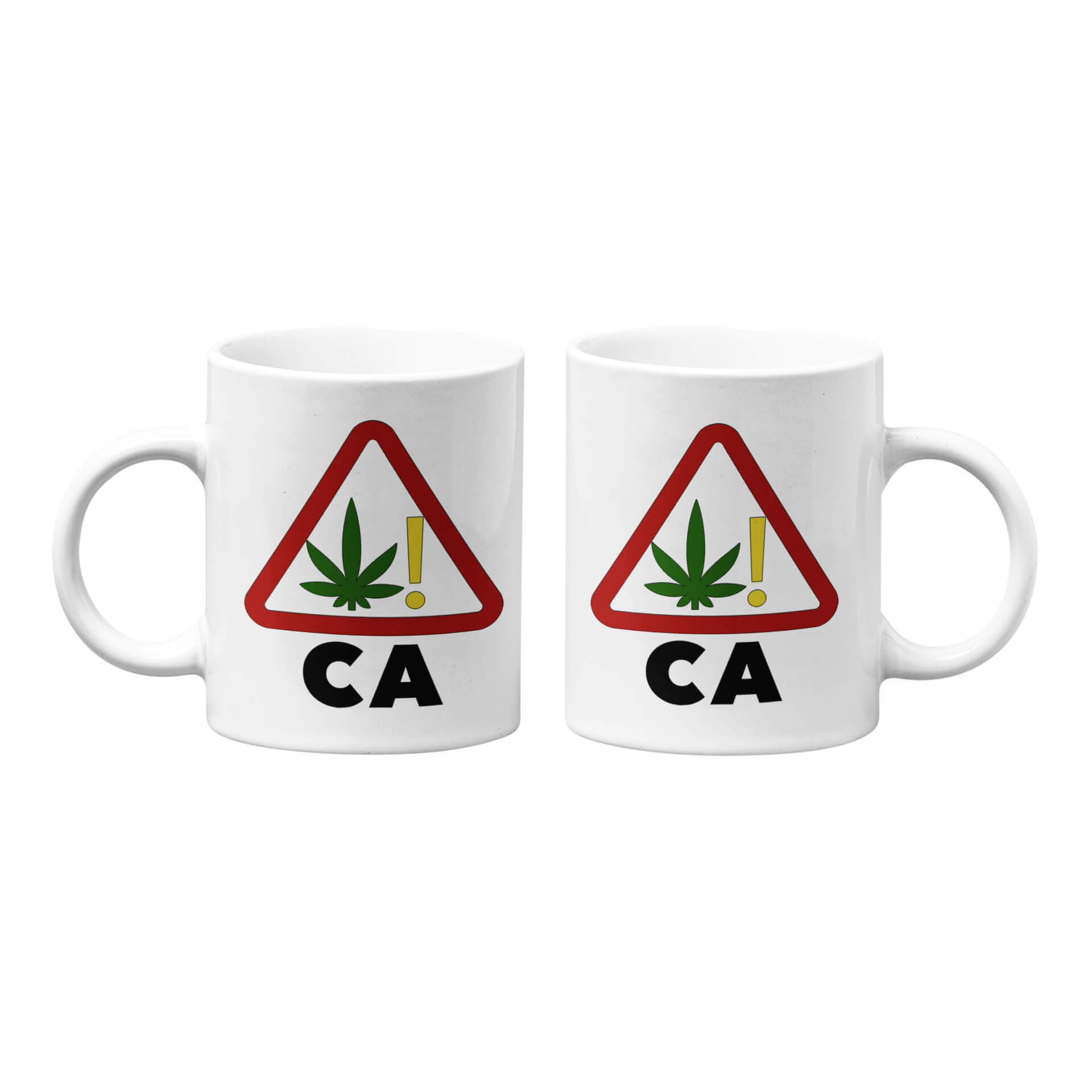 California Marijuana Warning Symbol Mug