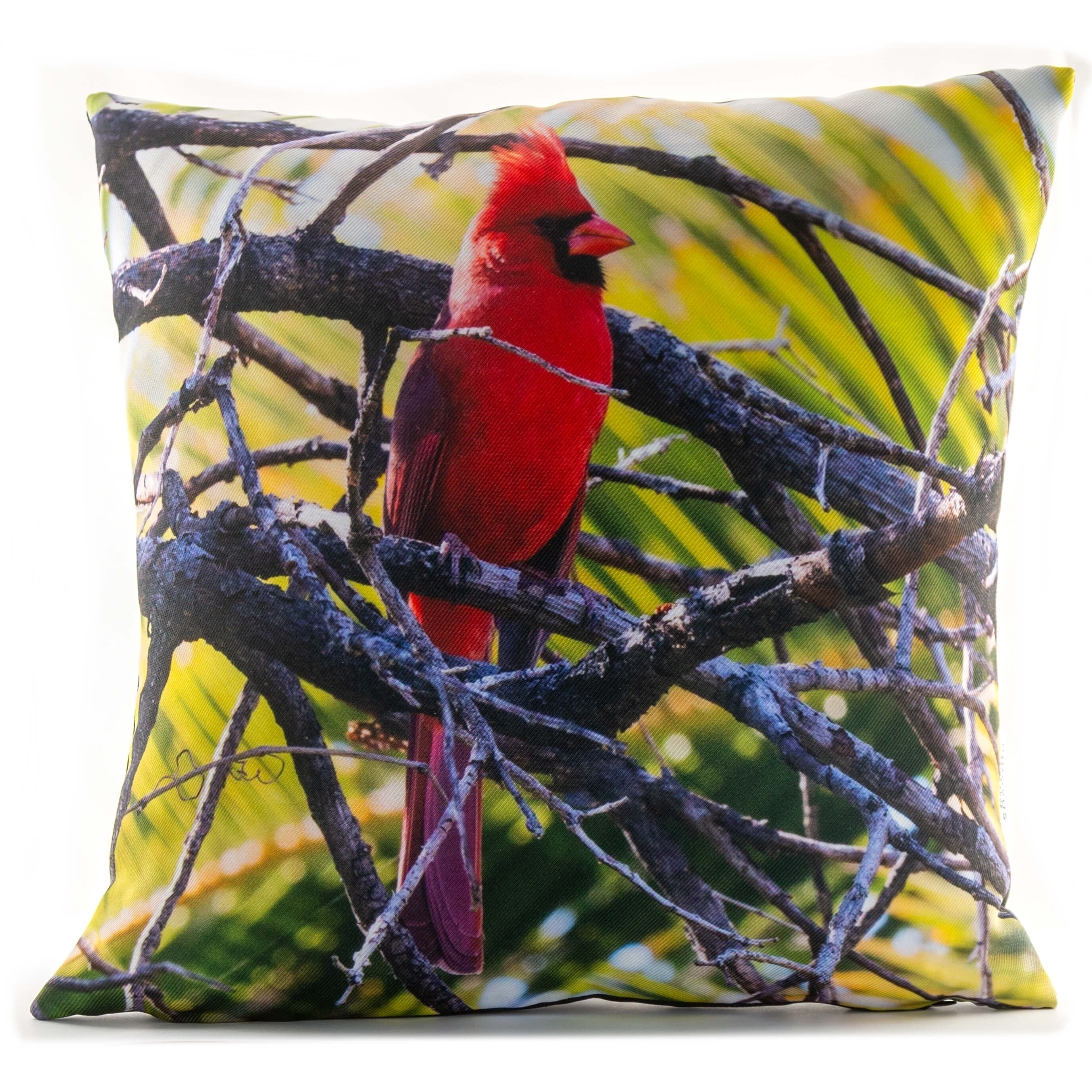Cardinal In A Tree 14in Throw Pillow