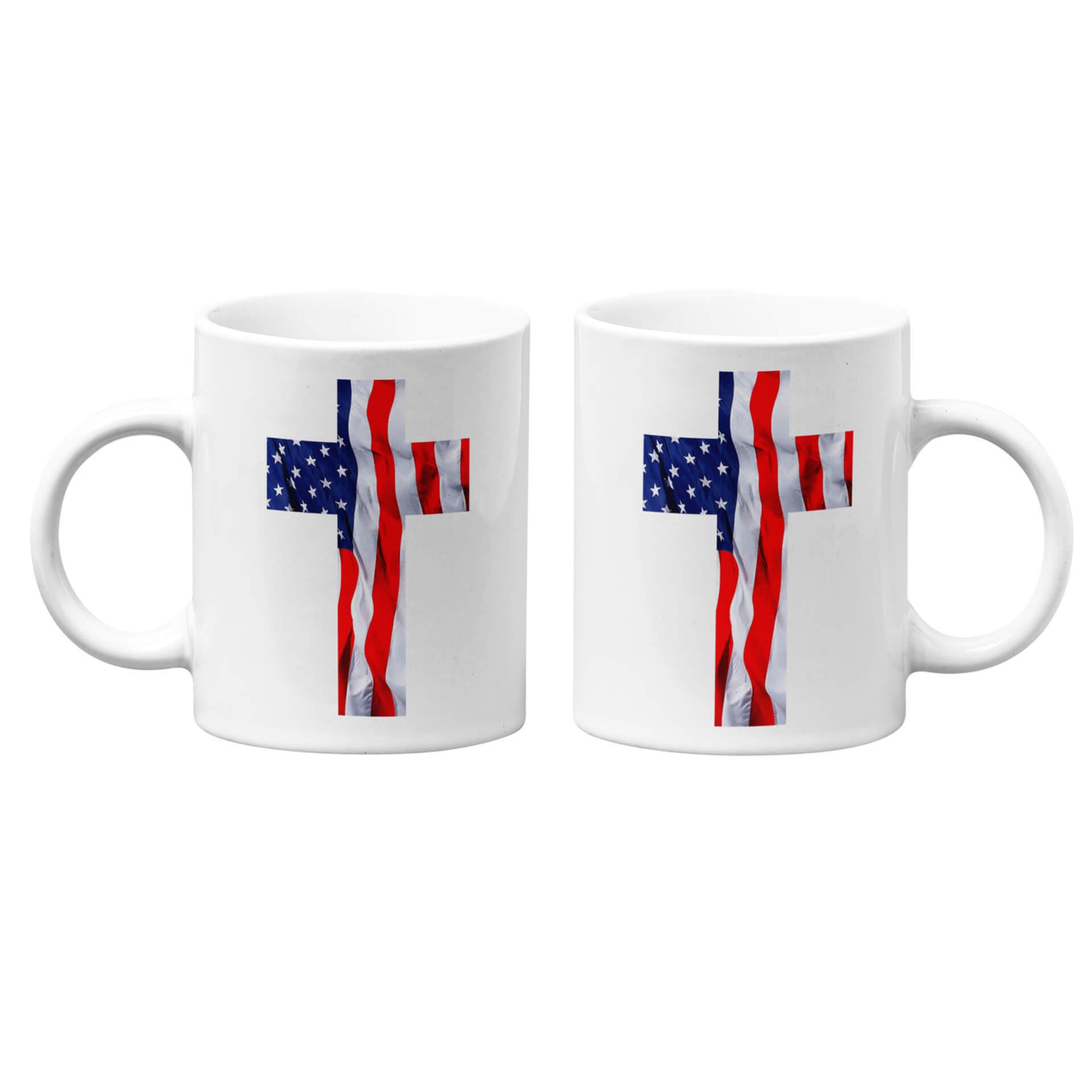 USA Flag Cross Mug