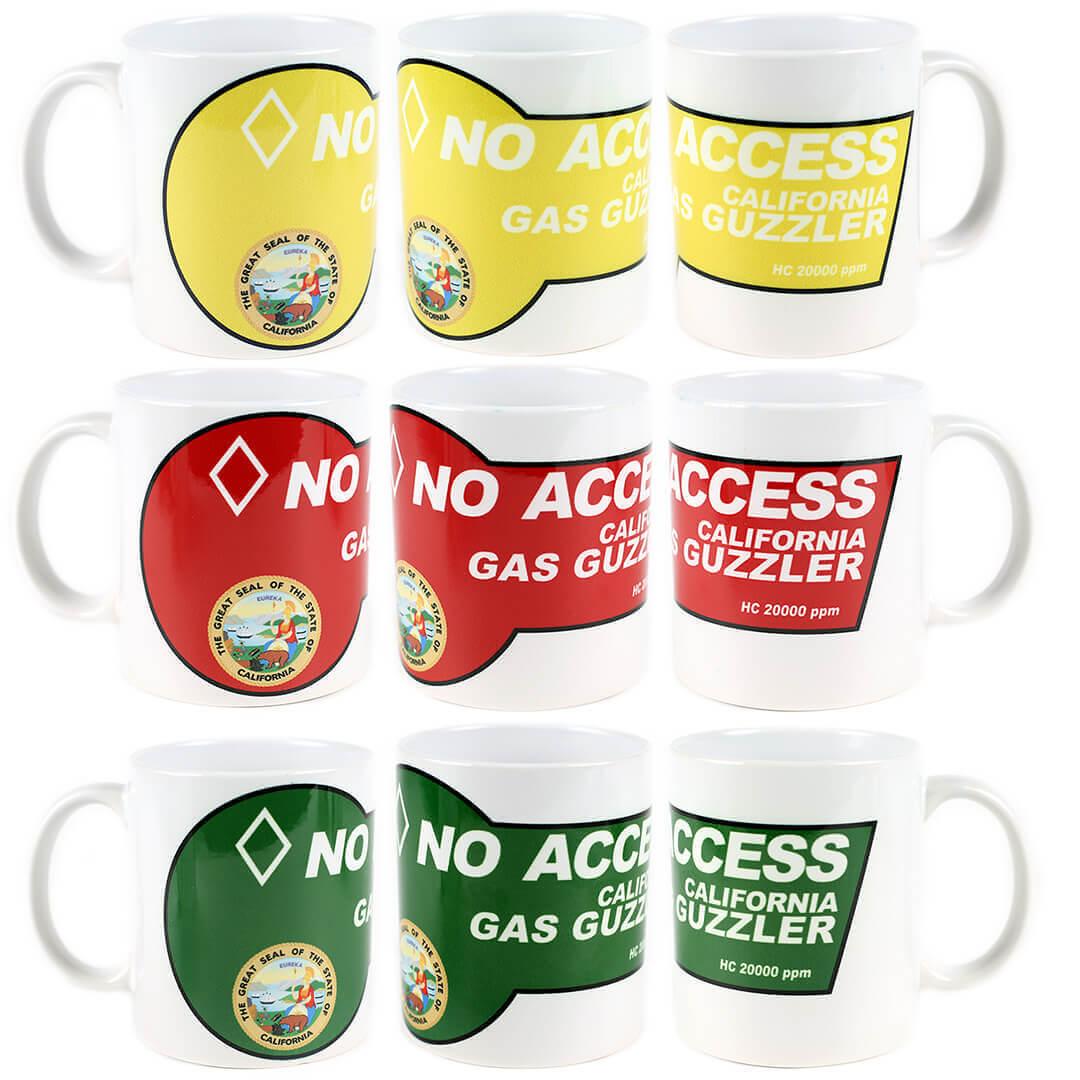 Gas Guzzler No Access California Mug