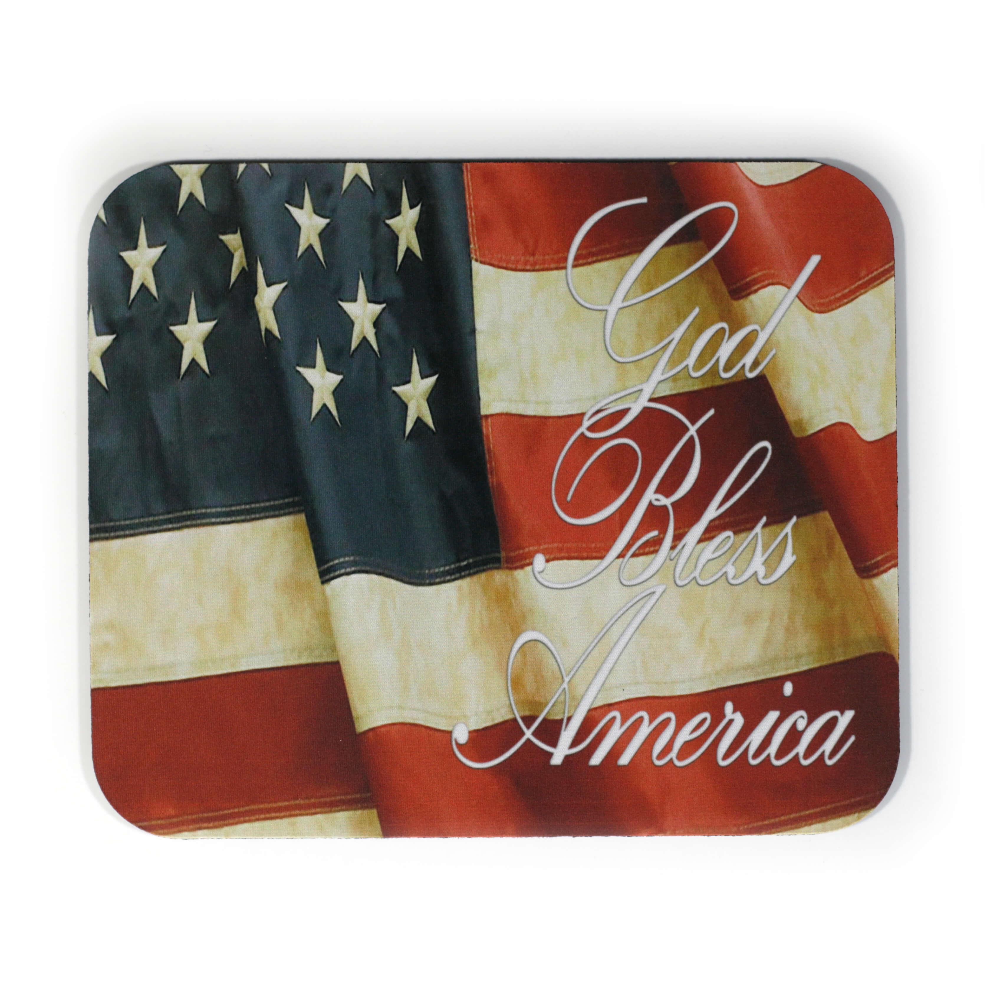 God Bless America USA Flag Mousepad