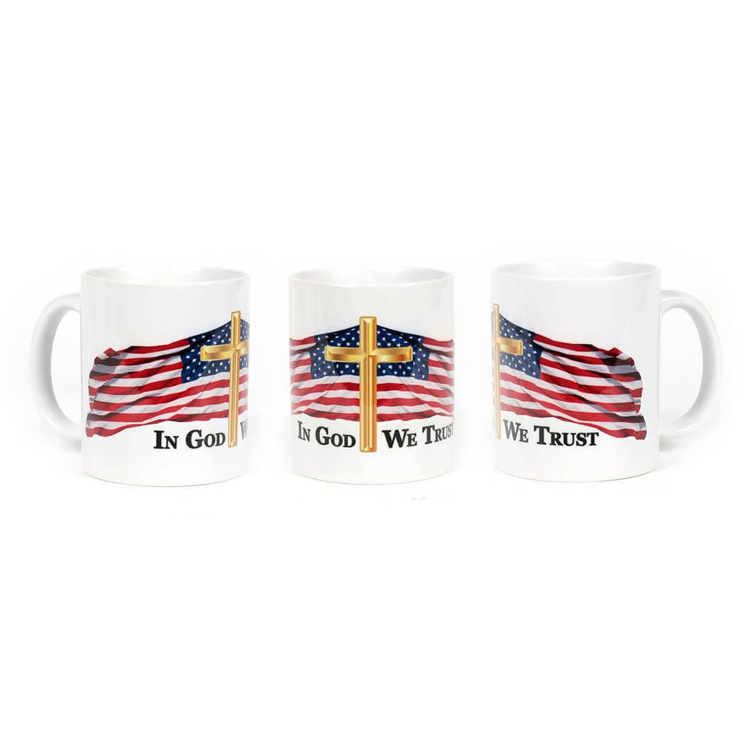 In God We Trust - USA Flag Mug