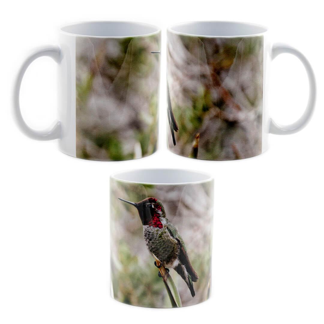 Iridescent Backyard Hummingbird Mug