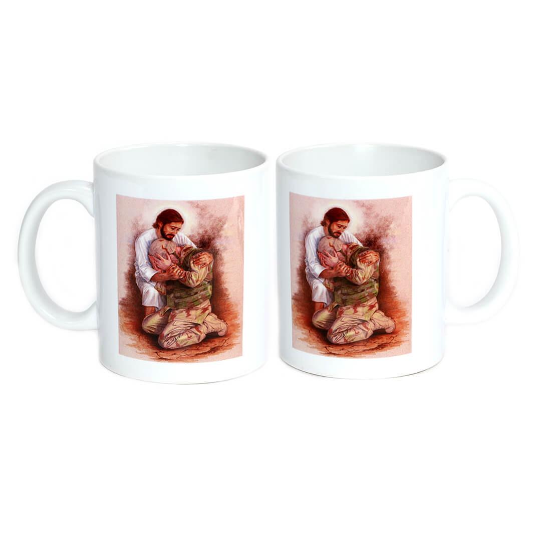 Jesus Comforts the Soldier Mug