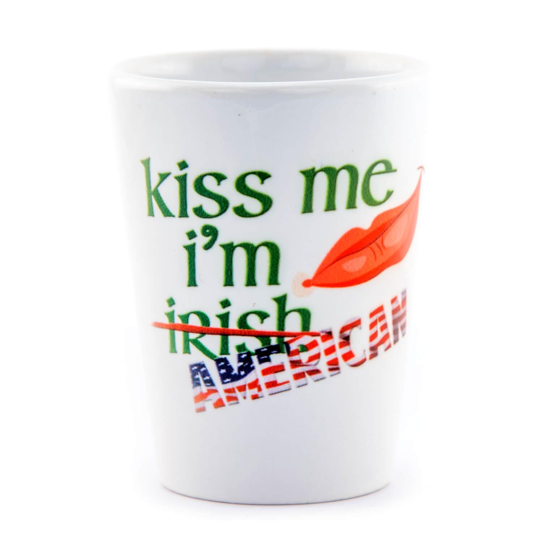Kiss Me I'm American Shot Glass