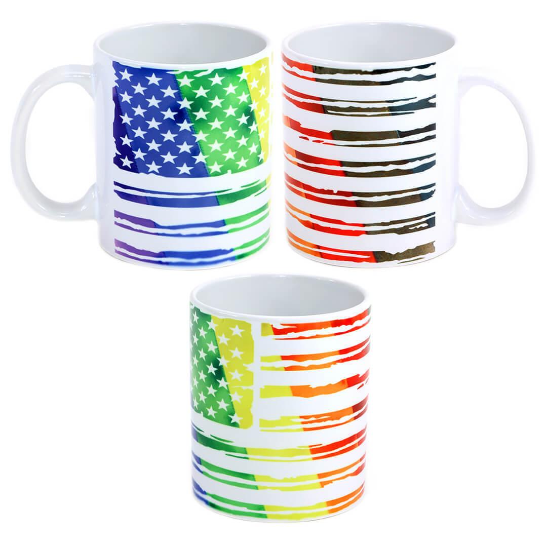 LGBTQ Distressed USA Flag Mug