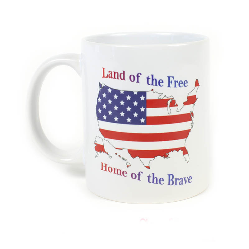 Land of the Free Home of the Brave Mug