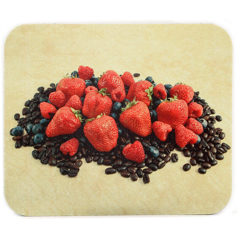 Mixed Berries and Coffee Mousepad