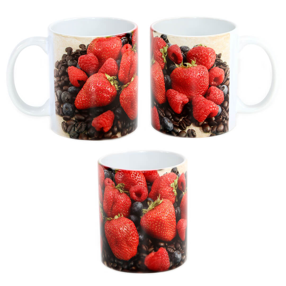 Mixed Berries & Coffee Mug
