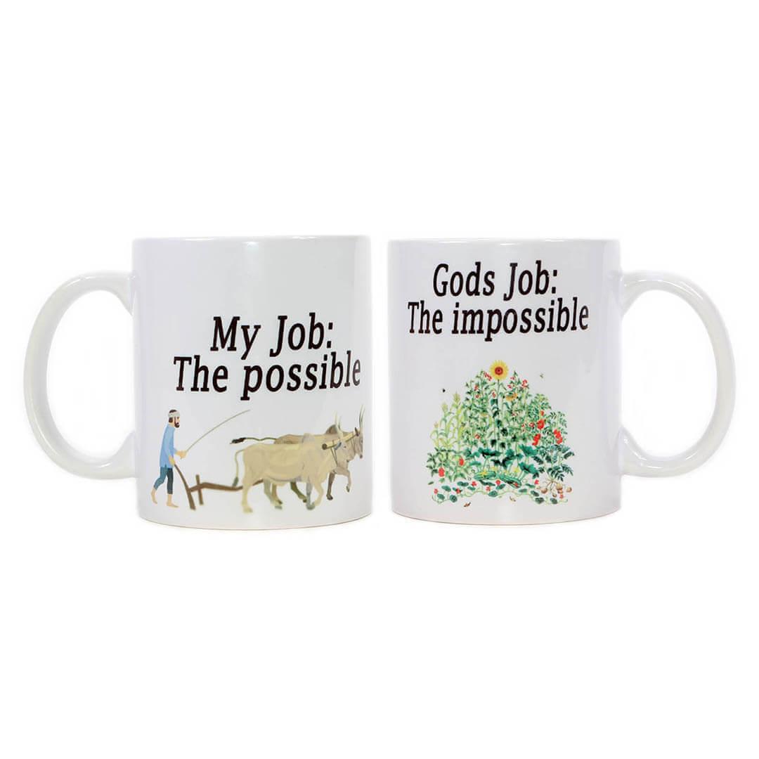 My Job, God's Job Mug