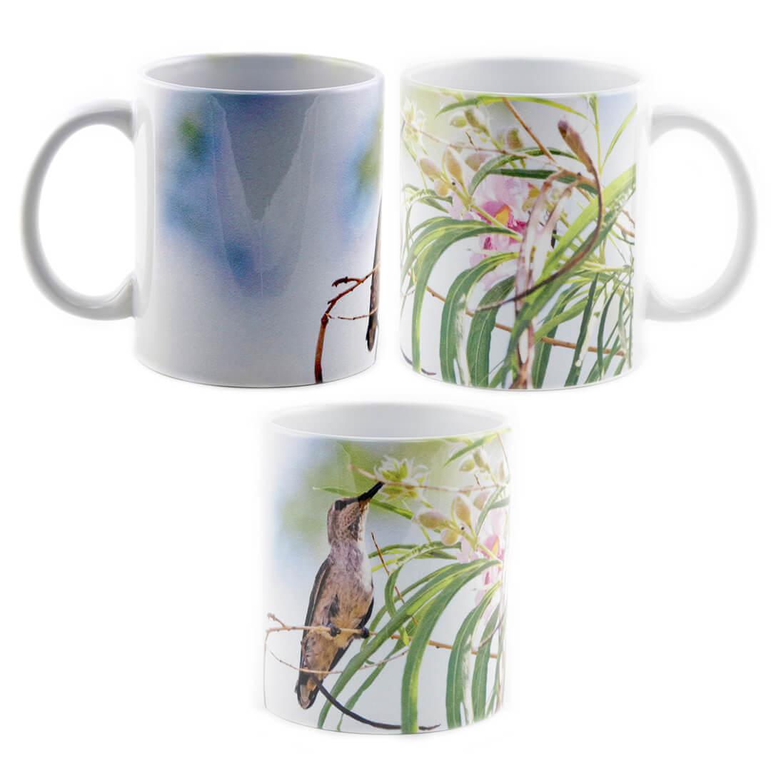 Perched Feeding Hummingbird Mug