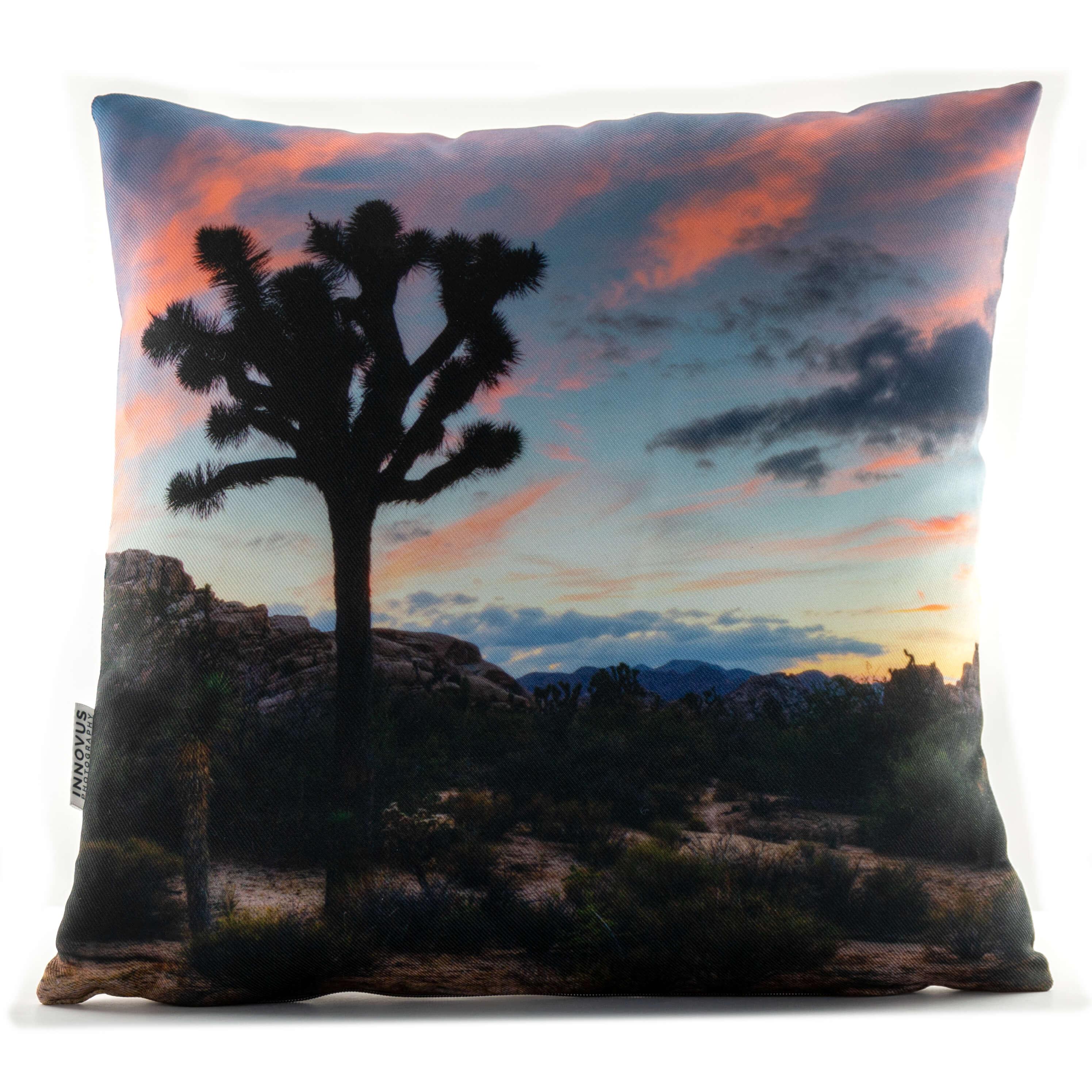 Pink Sunrise in Joshua Tree 14in Throw Pillow