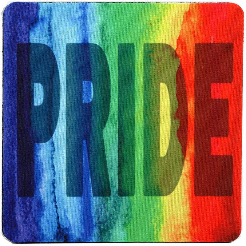 Pride Watercolor Rainbow Coaster