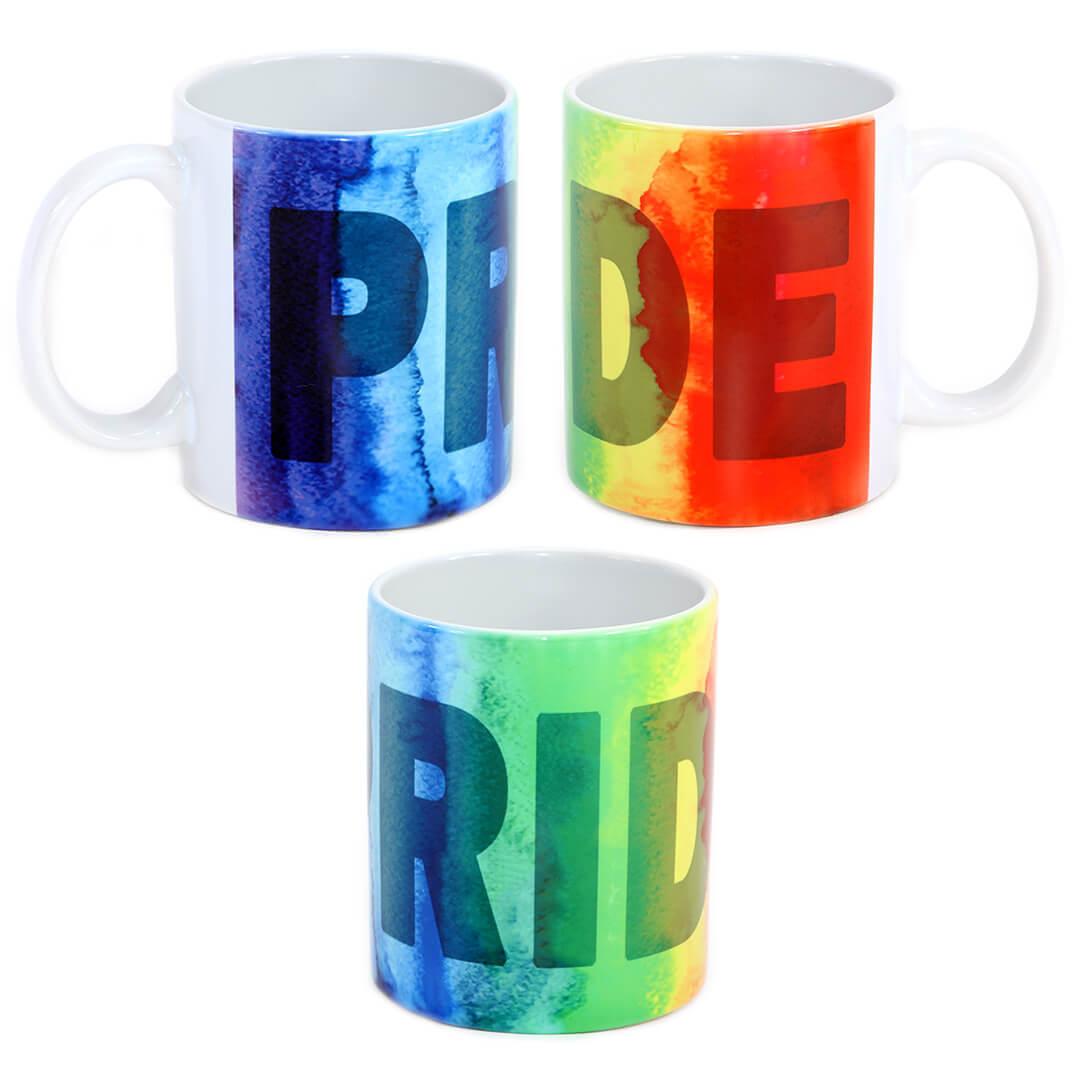 Pride Watercolor Rainbow Mug