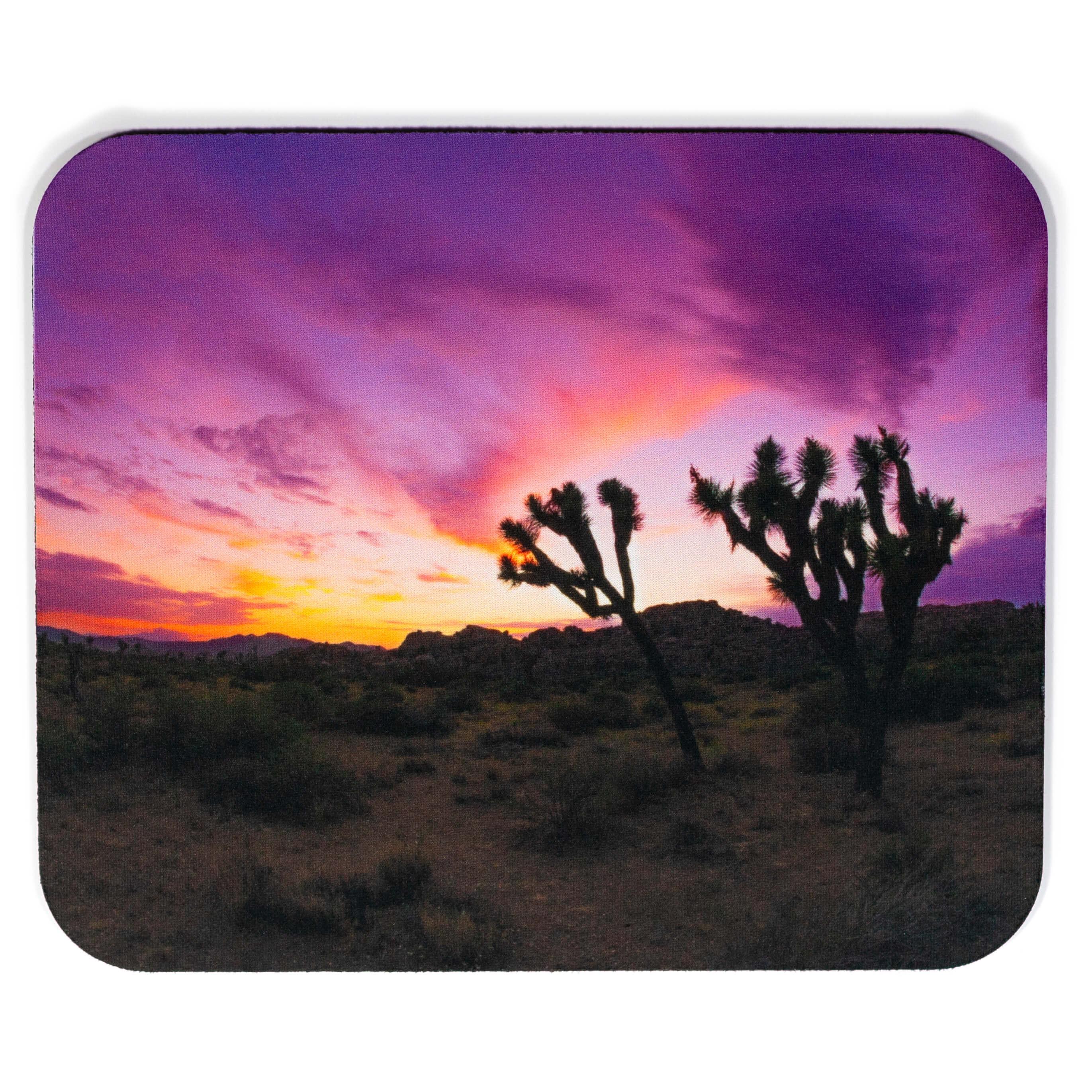 Purple Sunset Joshua Tree Mousepad