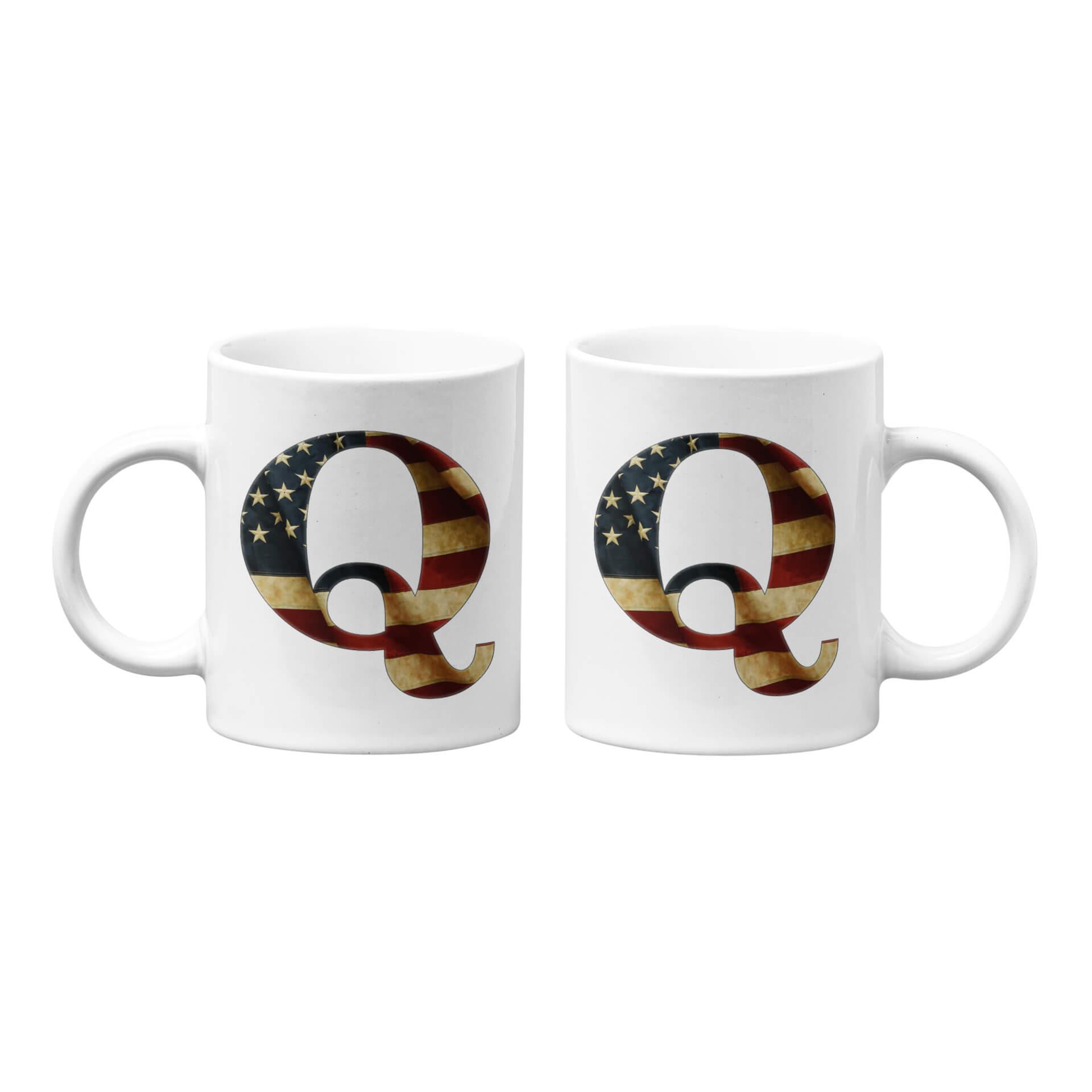 Q - USA Vintage Flag Mug