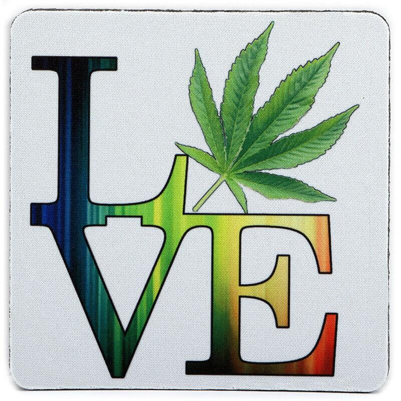 Rainbow Pot Love Coaster