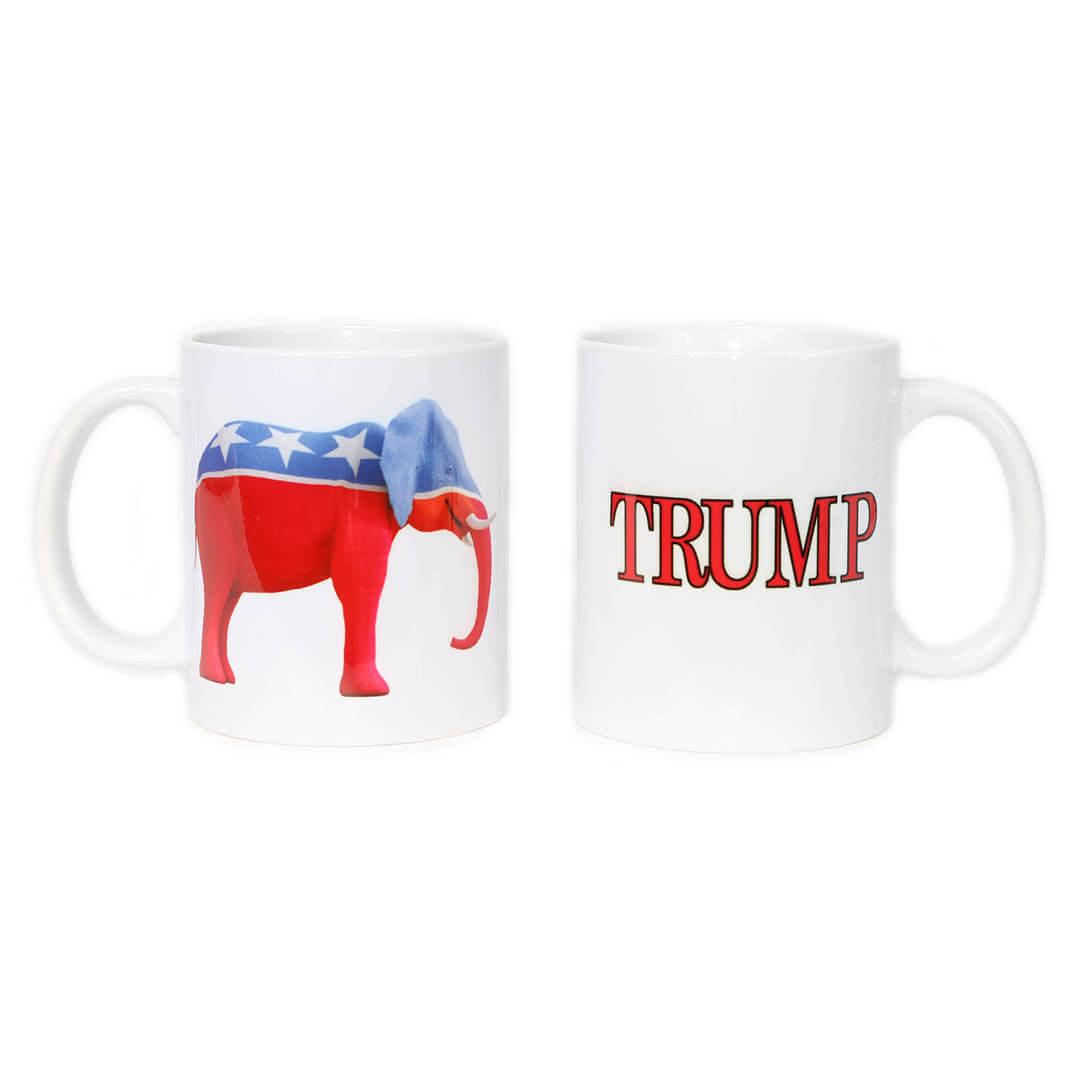 Red, White & Blue Republican Elephant & Trump Mug