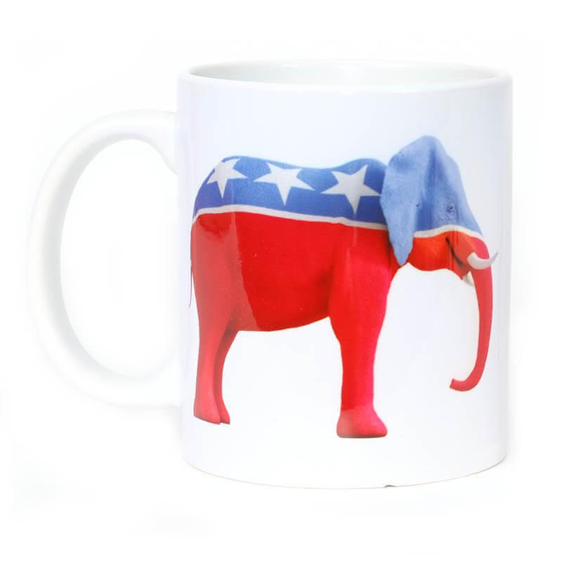 Red, White & Blue Republican Elephant Mug