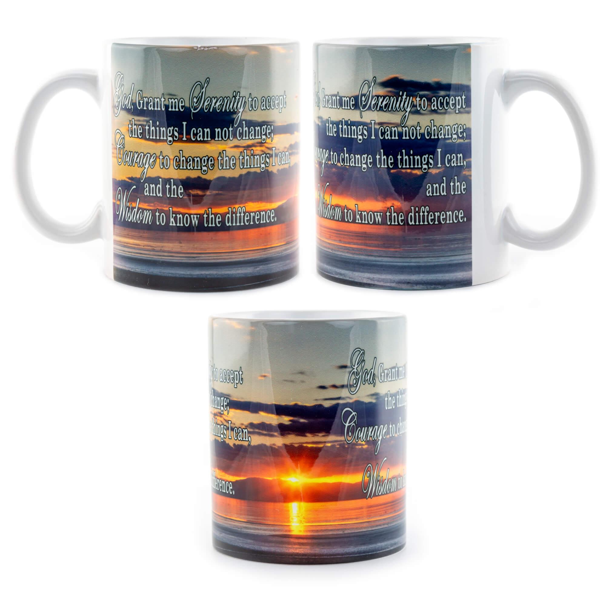Salton Sea Sunset Serenity Prayer Mug