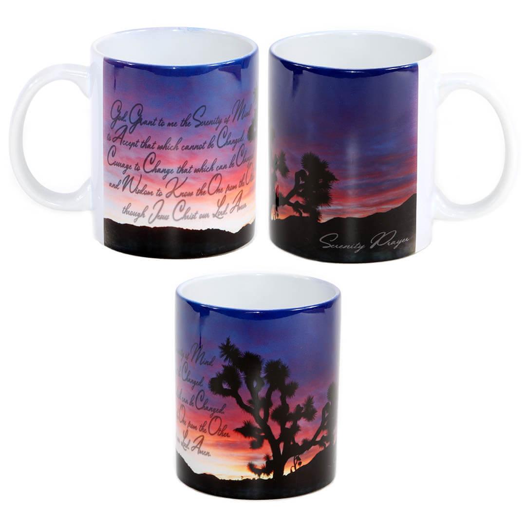 Serenity Prayer Purple Sun Rise Mug
