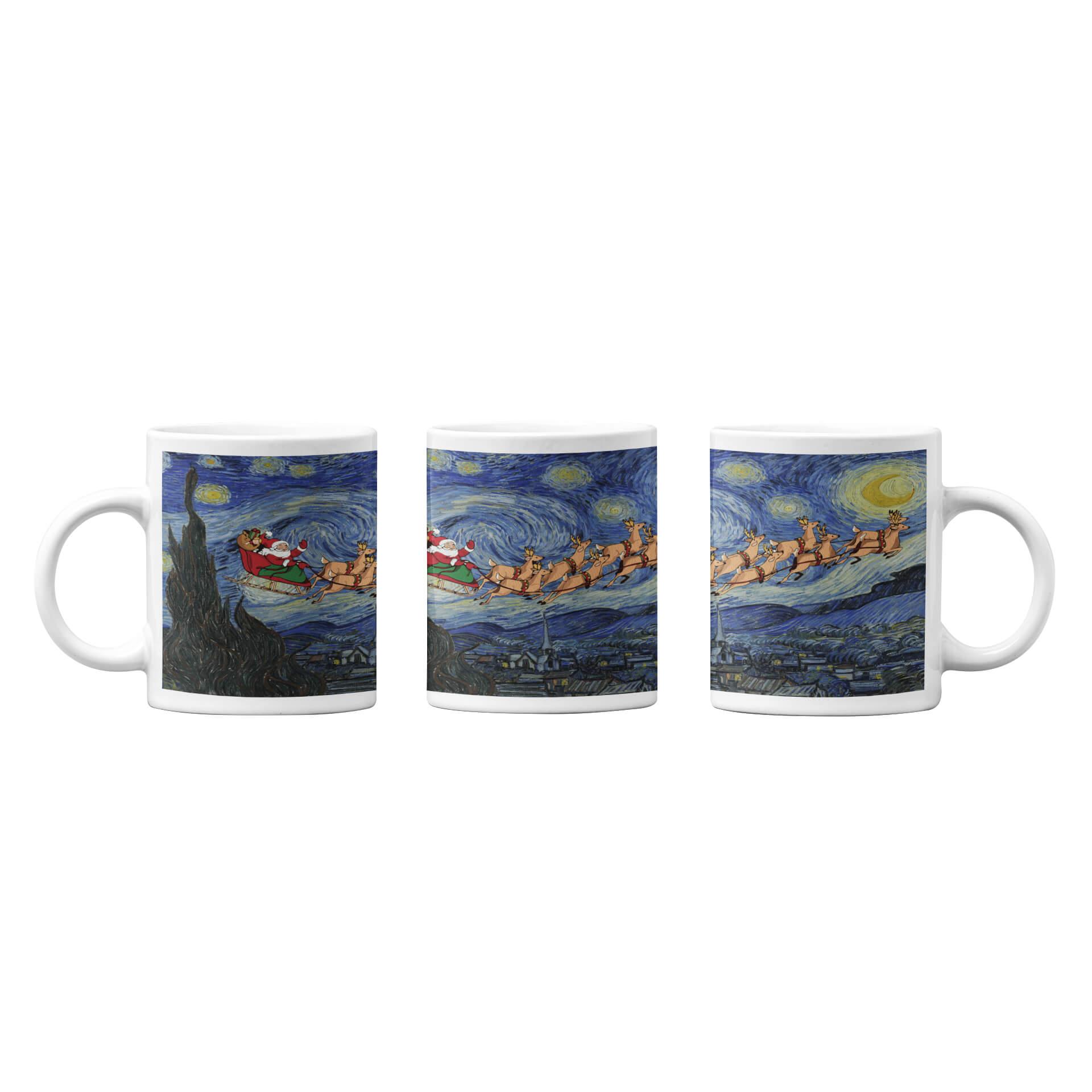 Starry Night Christmas Mug