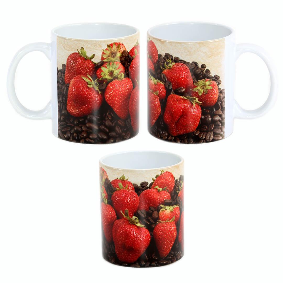 Strawberries & Coffee Mug