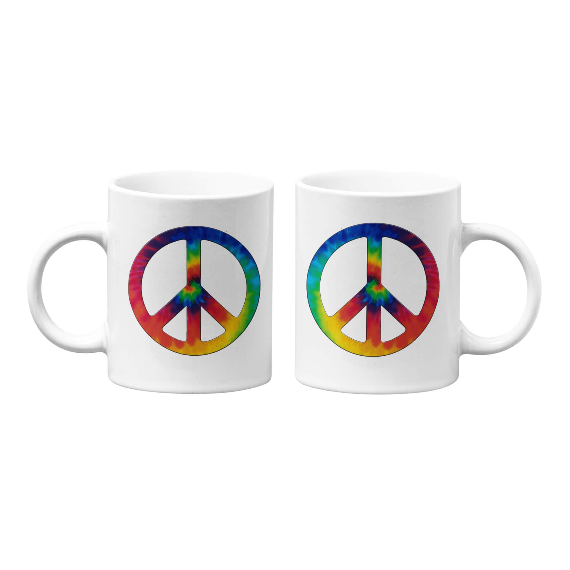 Tie Dye Peace Mug