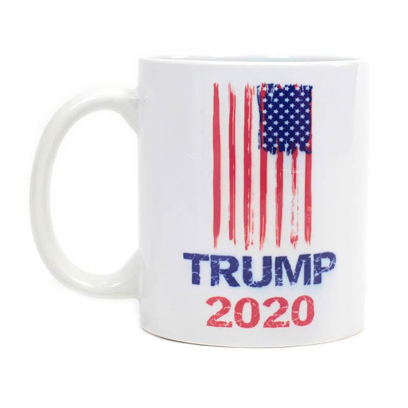 Trump 2020 Grunge with USA Flag Mug