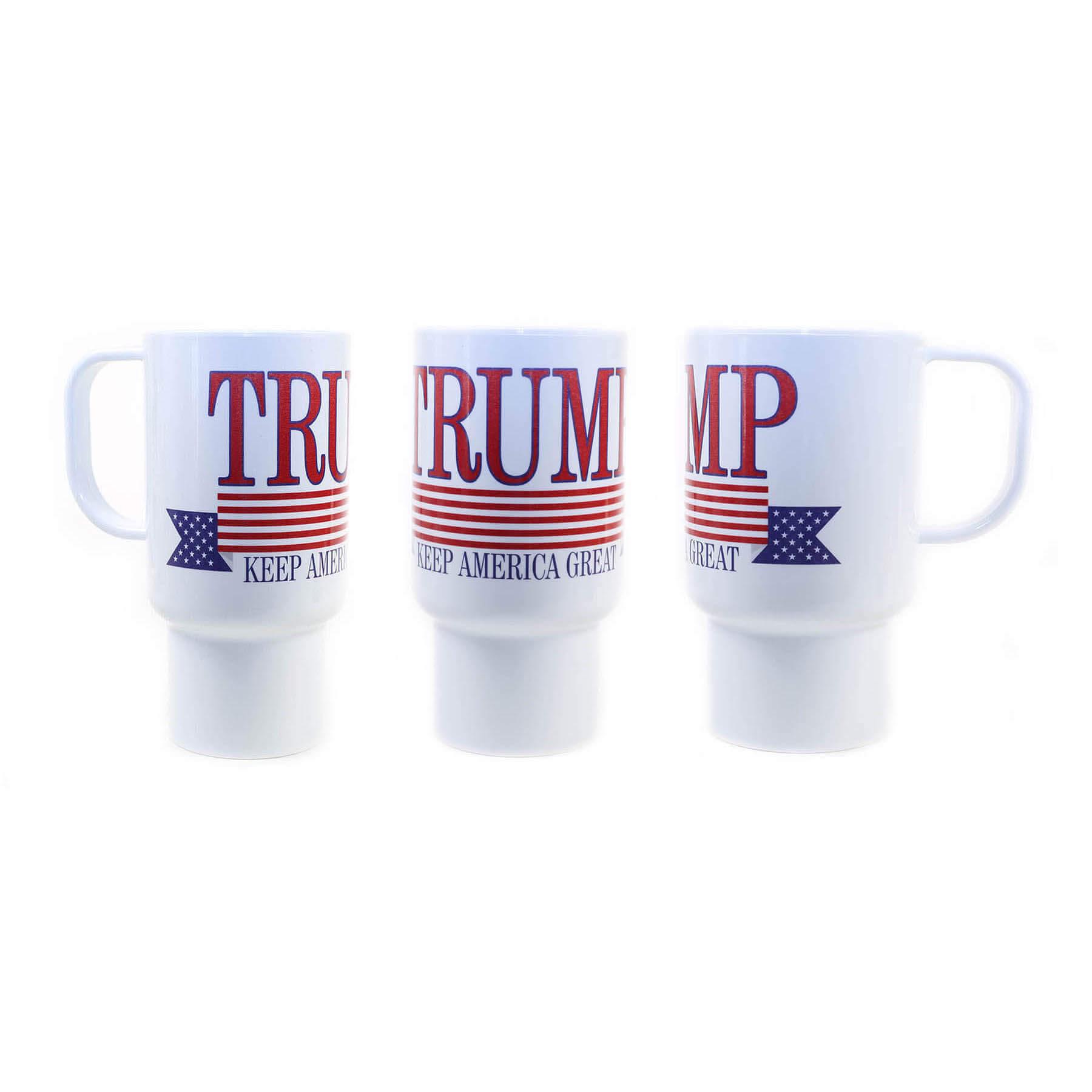 Trump Keep America Great Again with USA Flag Banner Mug