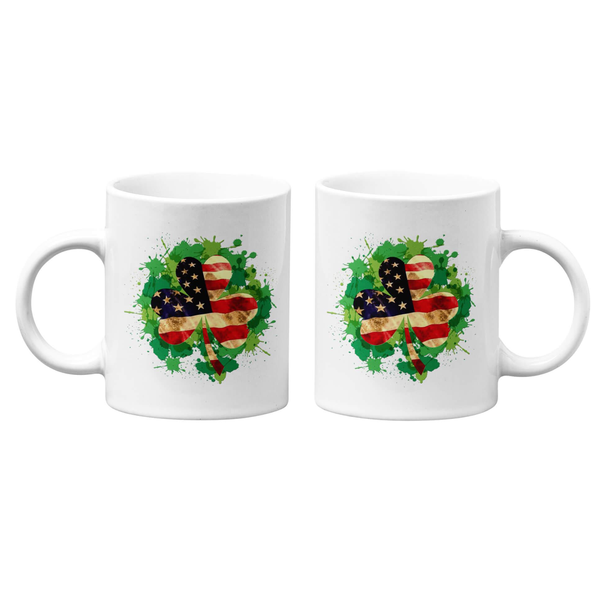 USA Flag Clover Mug
