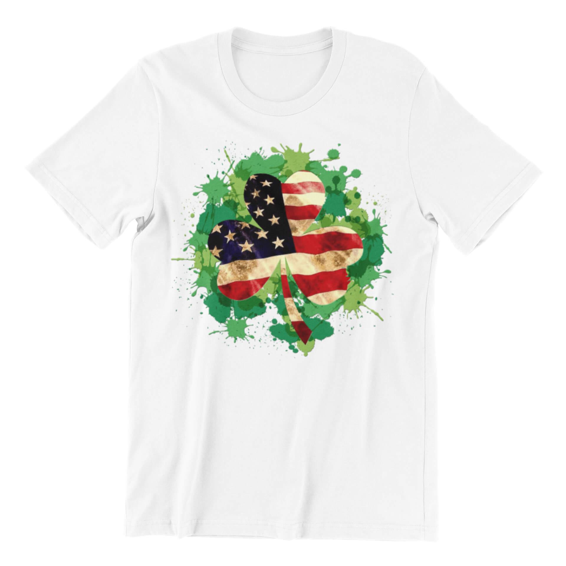 USA Flag Clover T-Shirt