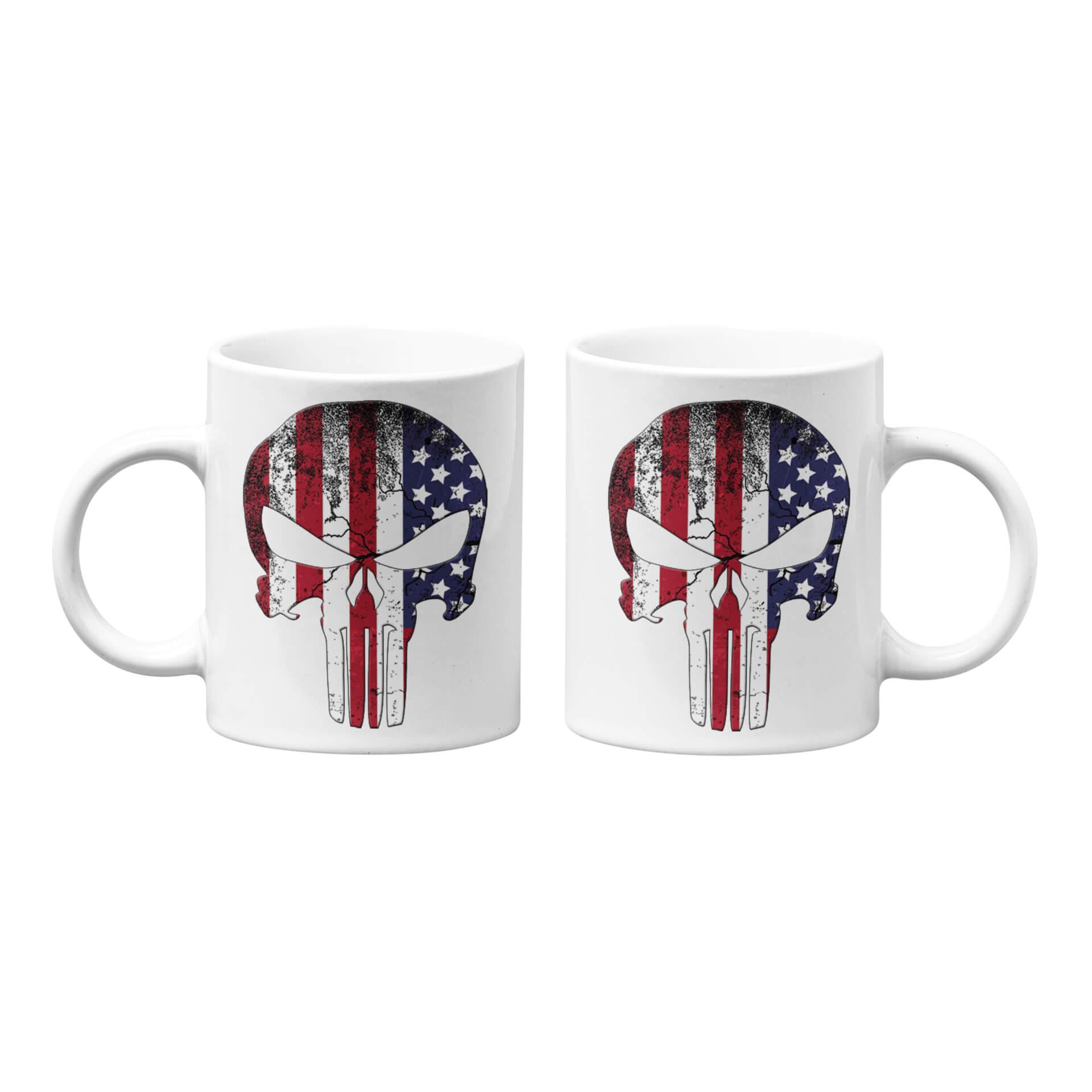 USA Flag Punisher Mug