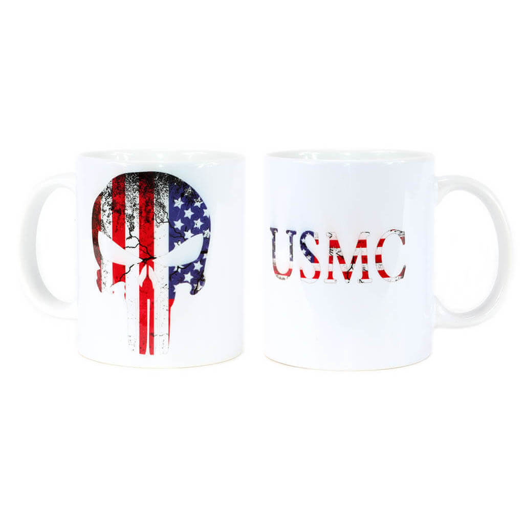 USMC Coffee Mug | USMC-Punisher Flag Mug