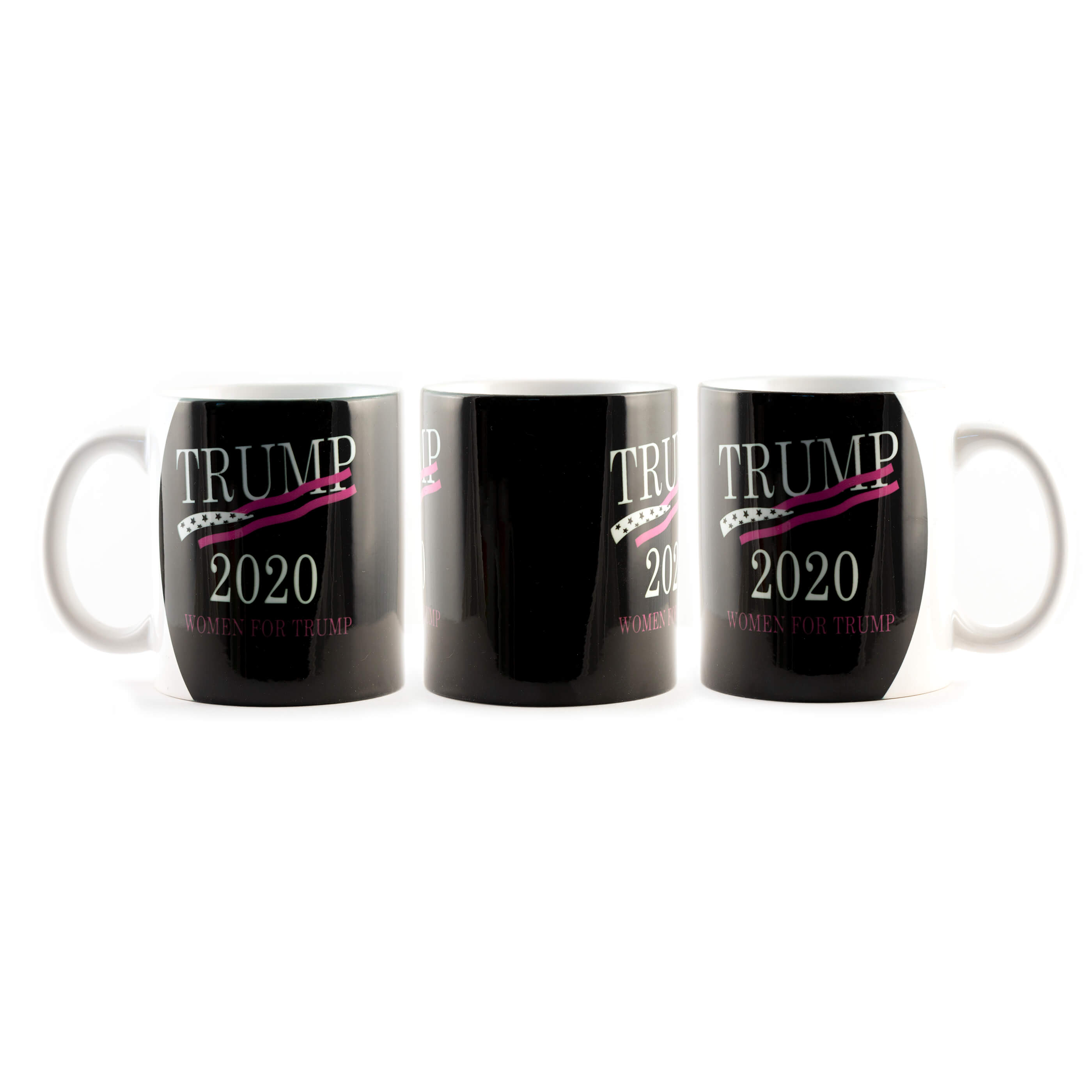 Women for Trump Black with Pink Flag Mug