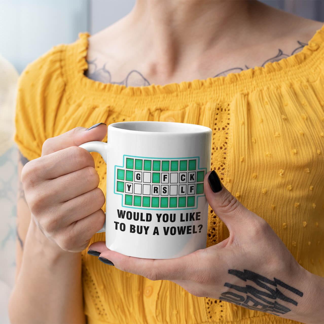 Would You Like to Buy a Vowel Mug